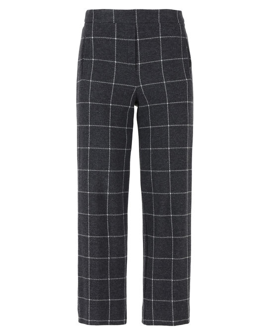 Woolrich Damen Soft Wool Cropped Pant Grey Widowpane
