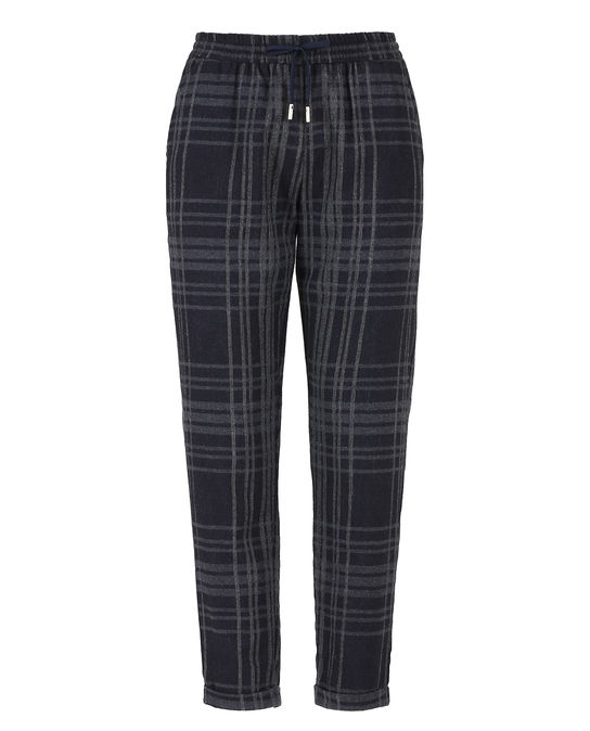 Woolrich Damen Light Wool Comfort Pant Blue Hunting