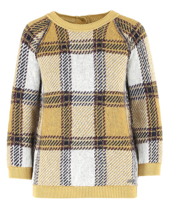 Woolrich Damen Brushed Sweater Check Yellow
