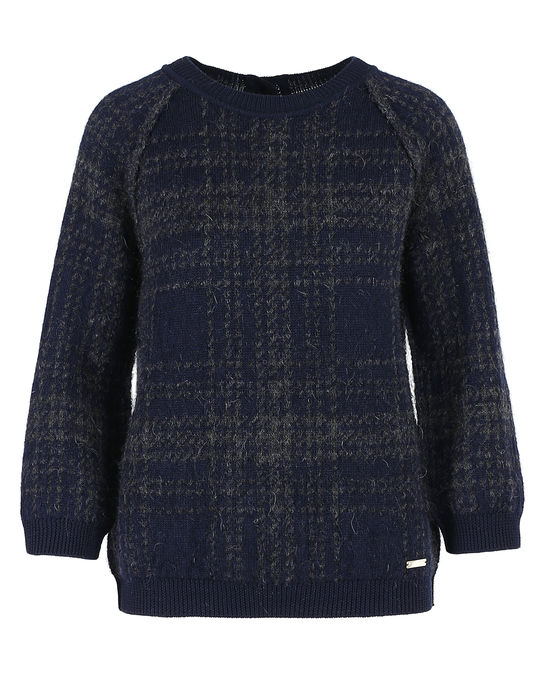 Woolrich Damen Brushed Sweater Blue Hunting