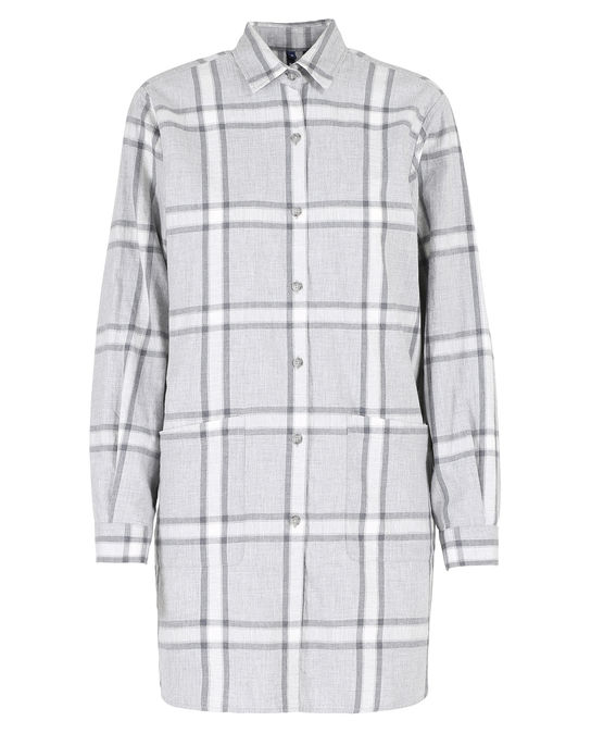 Woolrich Damen Alpina Flannel Shirt Check Grey