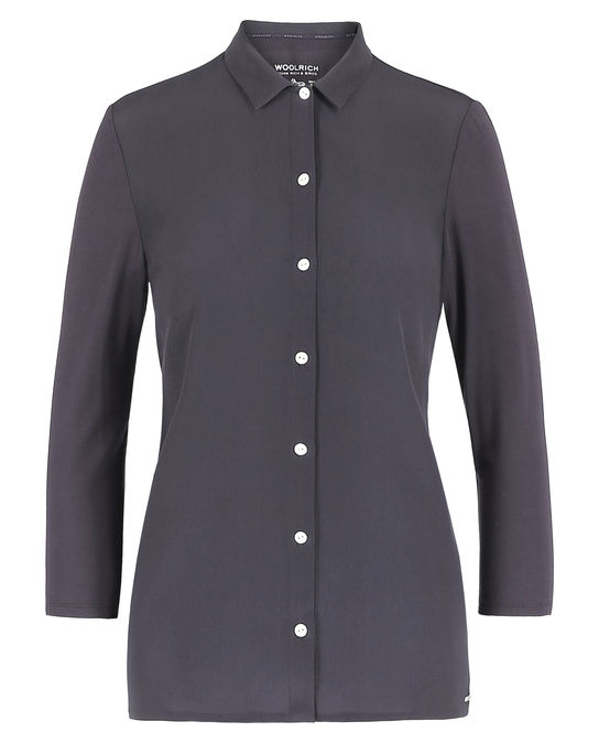 Woolrich Damen Silk Jersey Shirt Smoke Grey