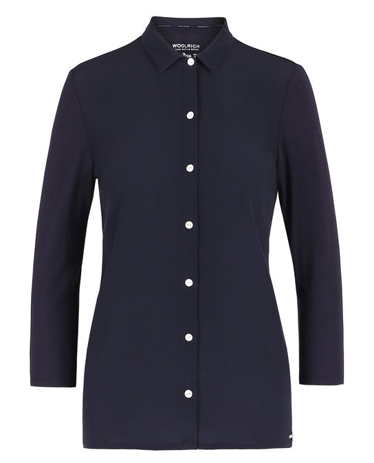 Woolrich Damen Silk Jersey Shirt MELTON BLUE