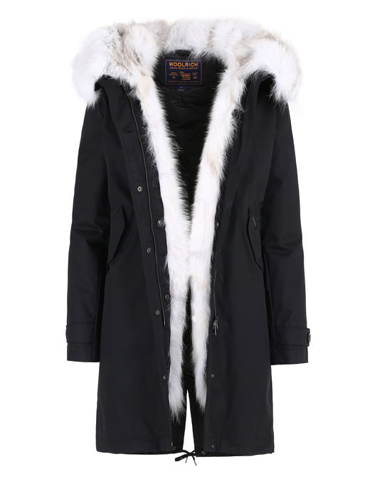 Woolrich Damen Literary Fox Eskimo BLACK