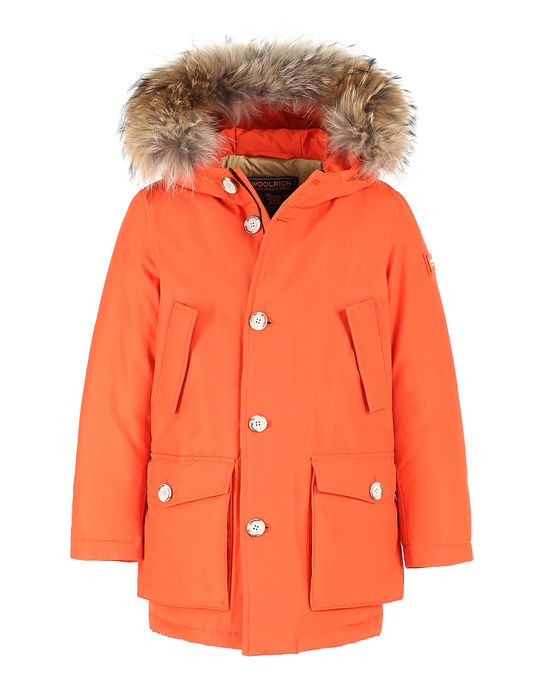 Woolrich Kinder Parka Detachable Fur True Orange