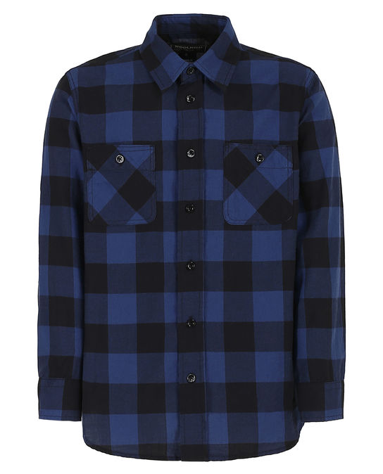 Woolrich Kinder Buffalo Flannel Shirt Indigo Buffalo