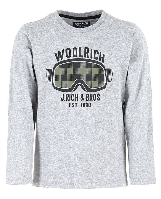 Woolrich Kinder Graphic Tee MEDIUM GREY MEL
