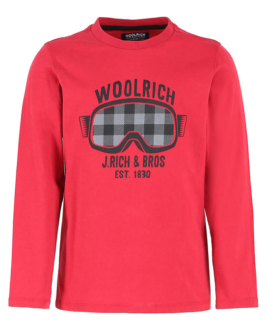 Woolrich Kinder Graphic Tee Heritage Red